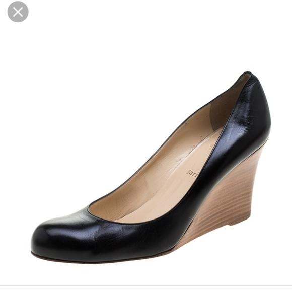 f72402595e06 Christian Louboutin Shoes - Christian Louboutin Miss Boxe Black Leather  Wedges